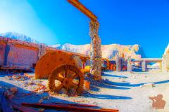 Sulfur-Mine-geschnitten